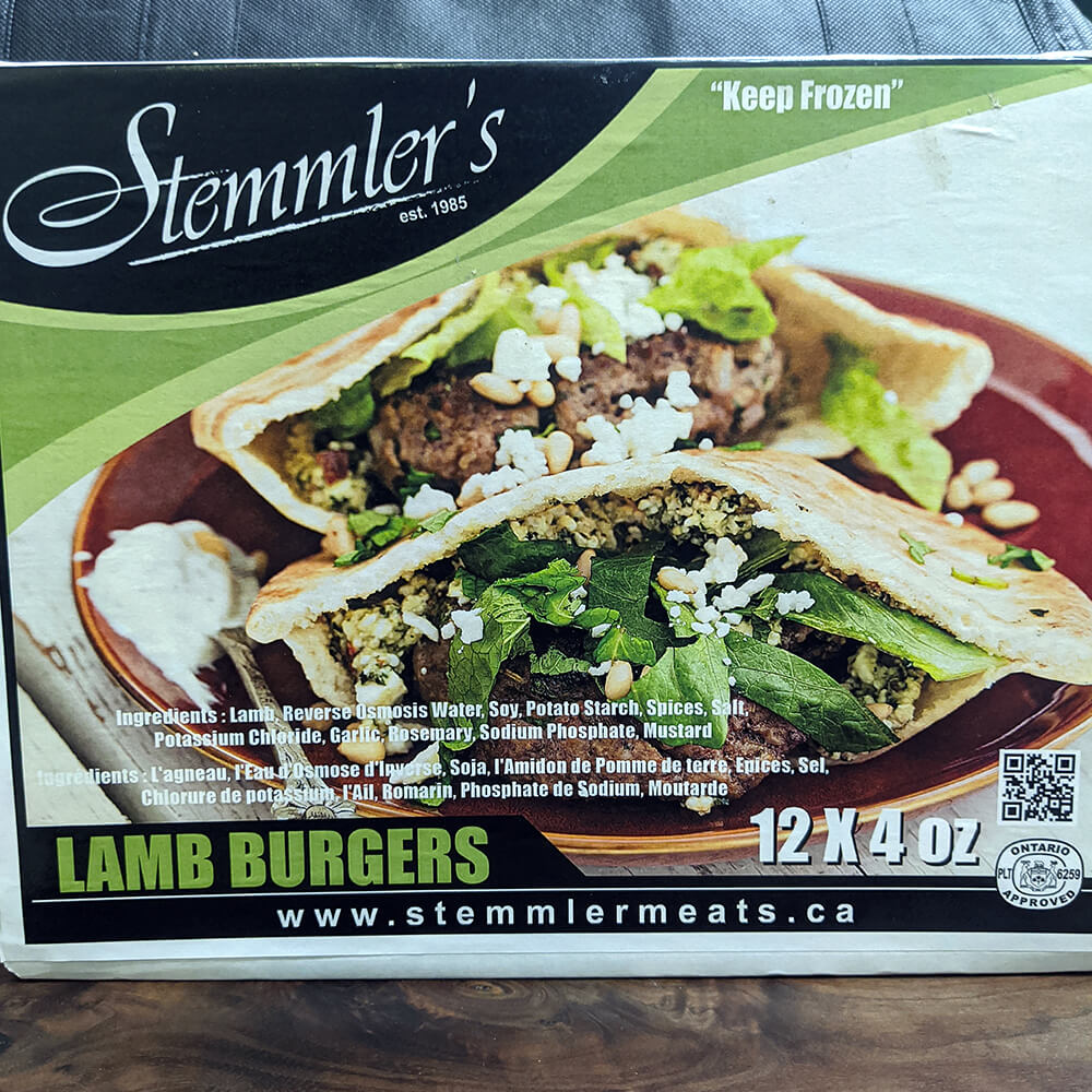 Stemmler's Lamb Burgers (12 Piece)