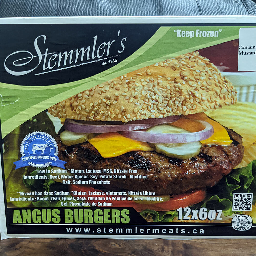 Stemmler's Angus Burgers (12 Pieces)