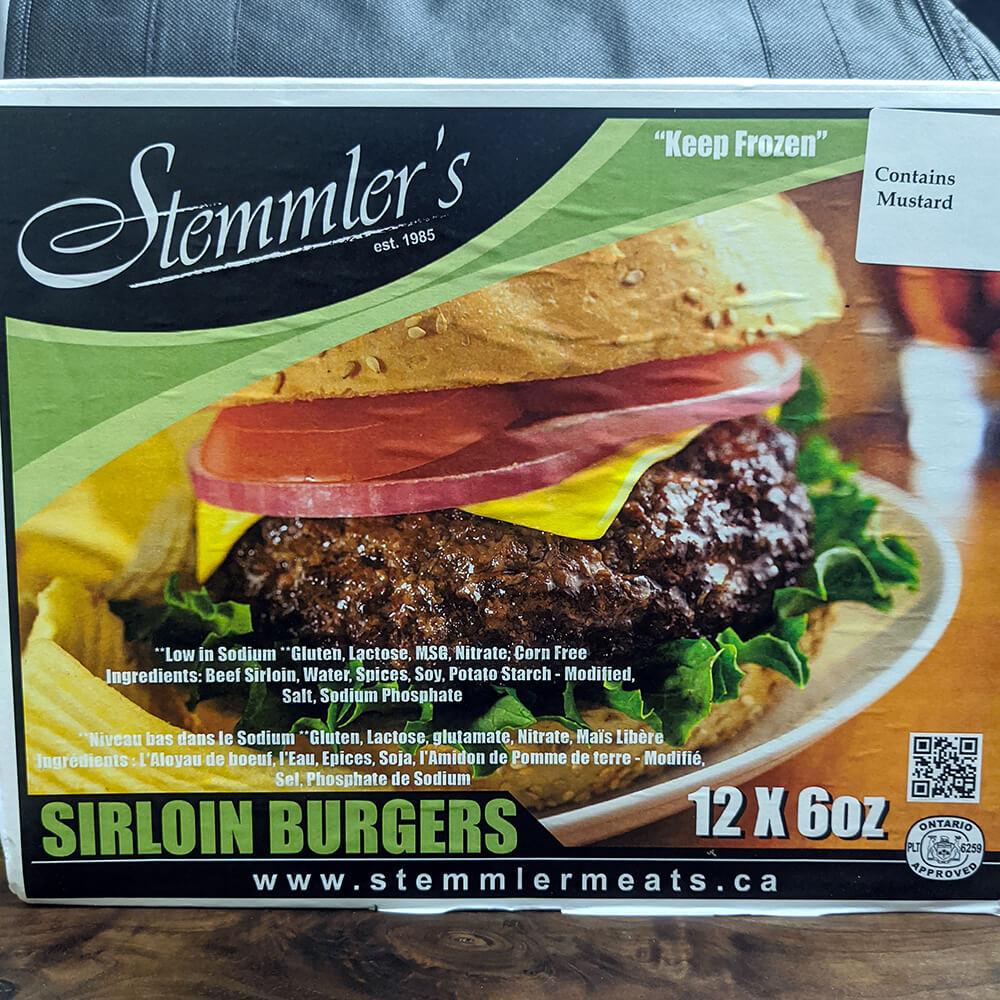 Stemmler's Sirloin Burgers (12 Pieces)
