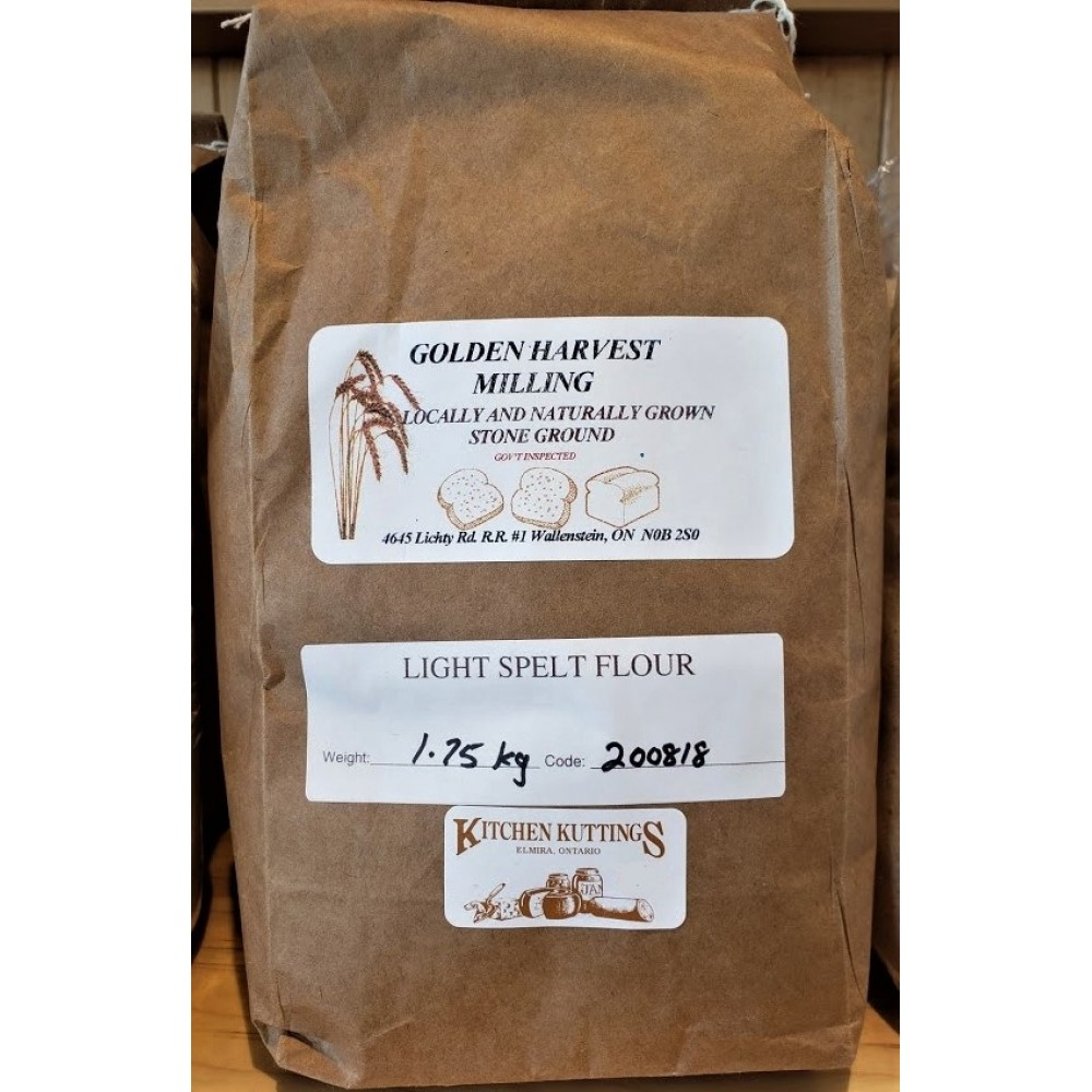 Organic Light Stone Ground Spelt  Flour  1.75  kg.