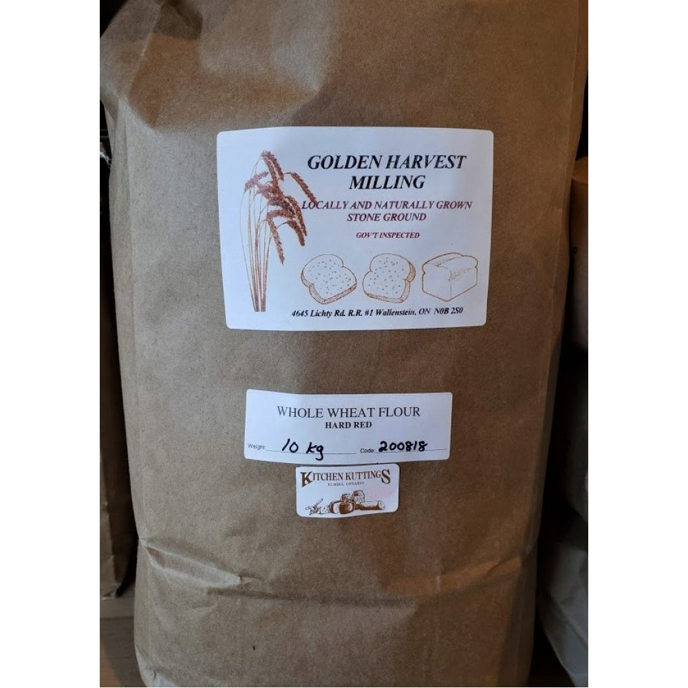 Organic Stone Ground Whole Wheat Flour 10 Kg.