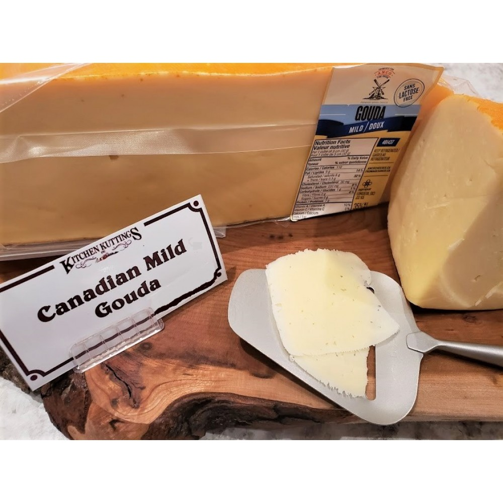 Fresh Cut Canadian Mild Gouda  (lactose free) (per 1/2 lb.)
