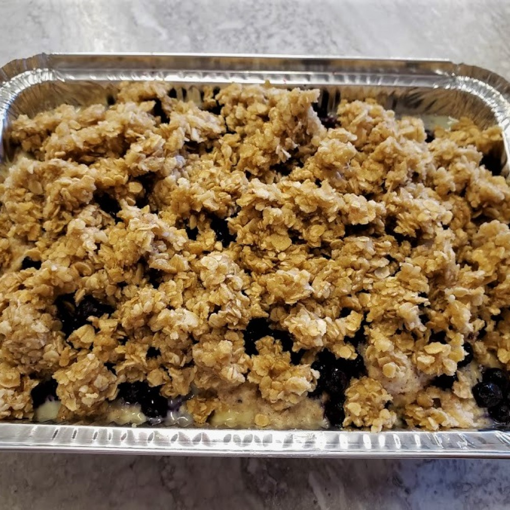 Homemade Blueberry Crunch French Toast Bake
